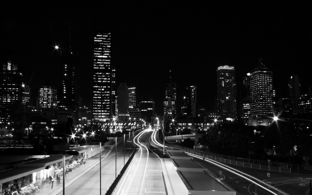 city lights black and white - photo #24