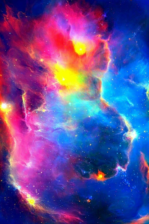 Rainbow Galaxies - Pics about space