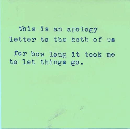 An Apology Letter