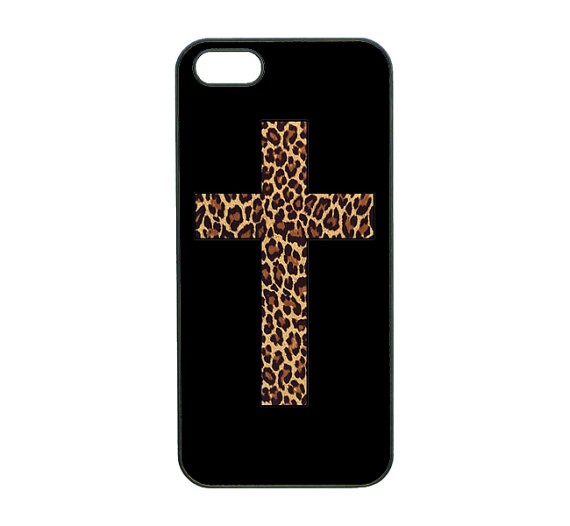iphone 4 case, iphone 4s case, iphone 5 case and leopard cross