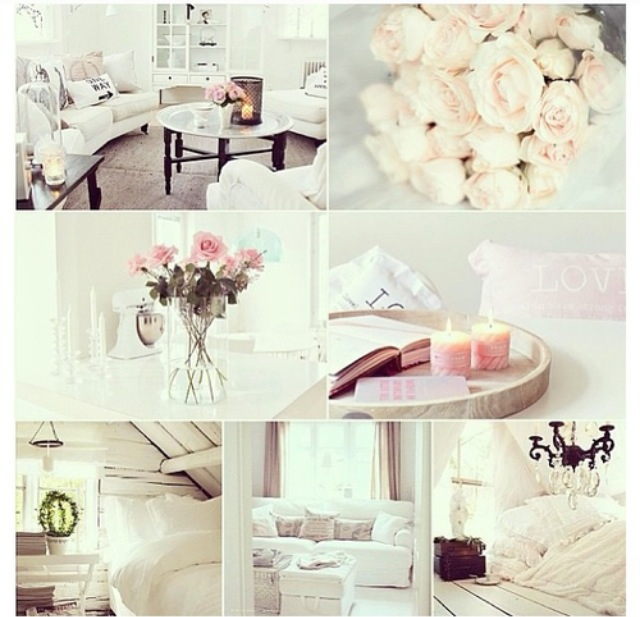 collage, flowers, pink and pretty