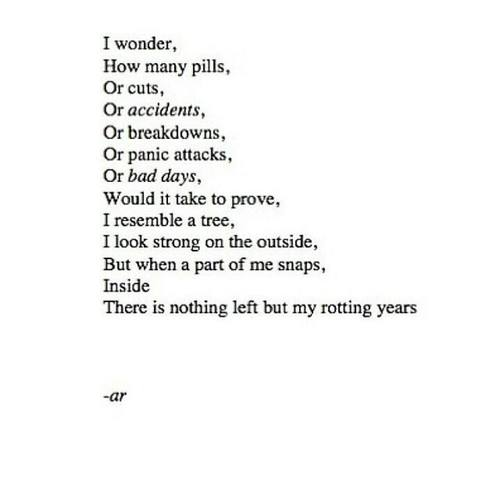 anxiety, bad days, cuts and depression