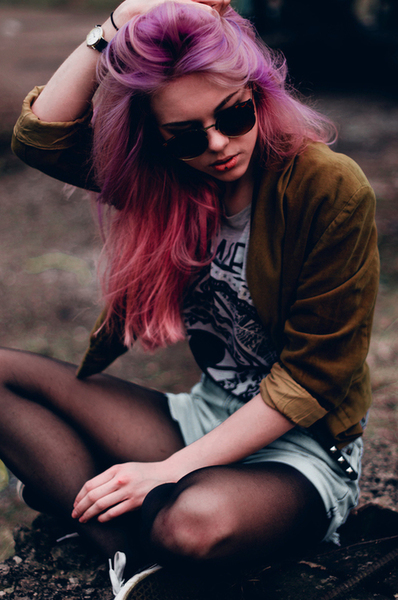 colorful, cool, cute, fashion, girl, glasses, hair, hairstyle, heart, lipstick, love, nice, outfit, photograph, pink, red, short, spring, style, sweet