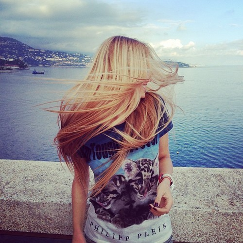 blond, hair, young, free, wild, girl