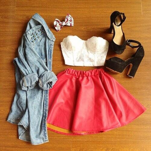 skirt, style, summer, fashion, crop top, outfit, clothes