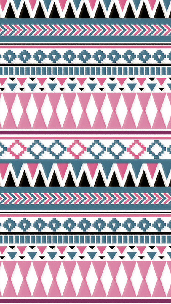 Aztec,tribal background pink, blue - image #1950719 by ...