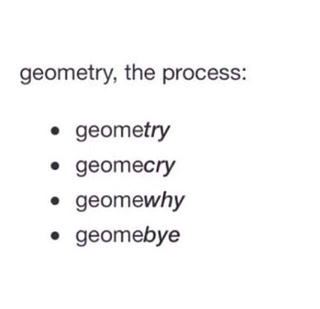 exercises, funny, geometry, maths, problems, process, quotes, school, try