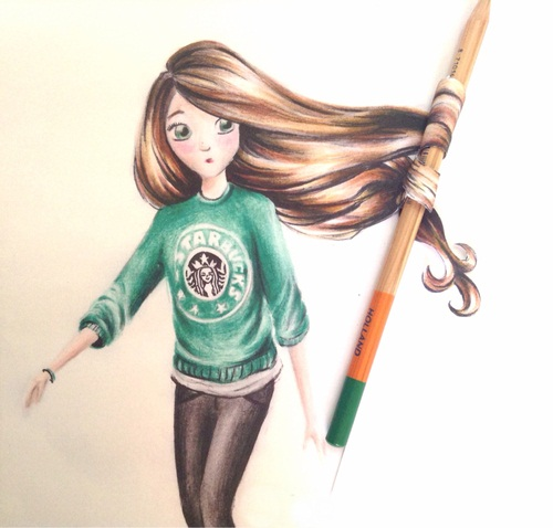 , amazing, art, awesome, cool, draw, drawing, fluffy, funny, girl ...