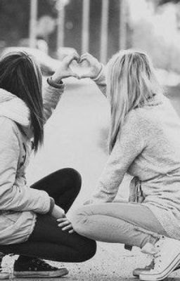 b&w, best friends, black and white, blonde, brunette, converse, cute, friends, fun, girls, laugh, love, photography, smile