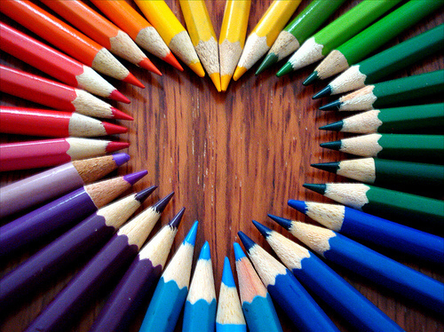 colorful, cute, heart and love