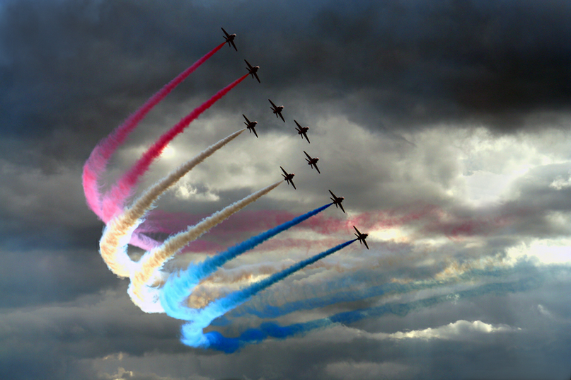 army, blue, colors, flag, jets, pink, stormy, white