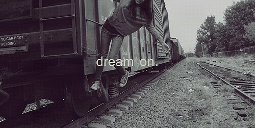dream, girl and journey
