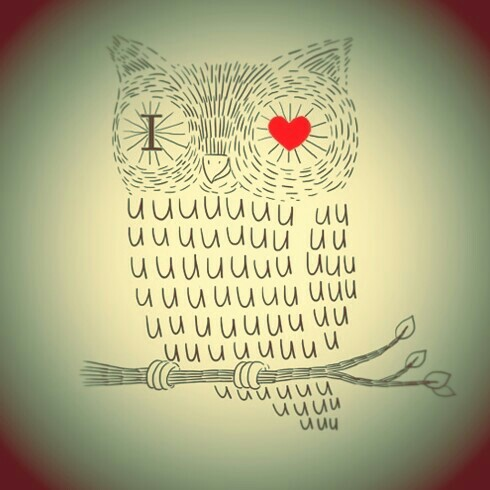 I owl you - image #2172569 by Maria_D on Favim.com