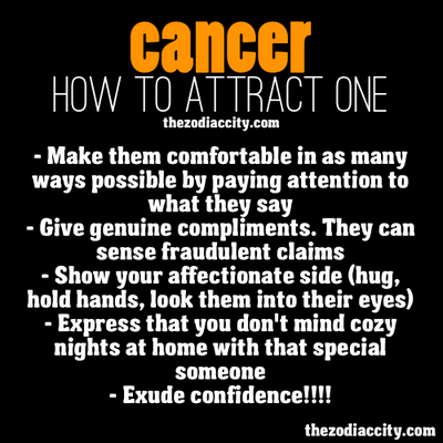 How to sexually seduce a cancer man